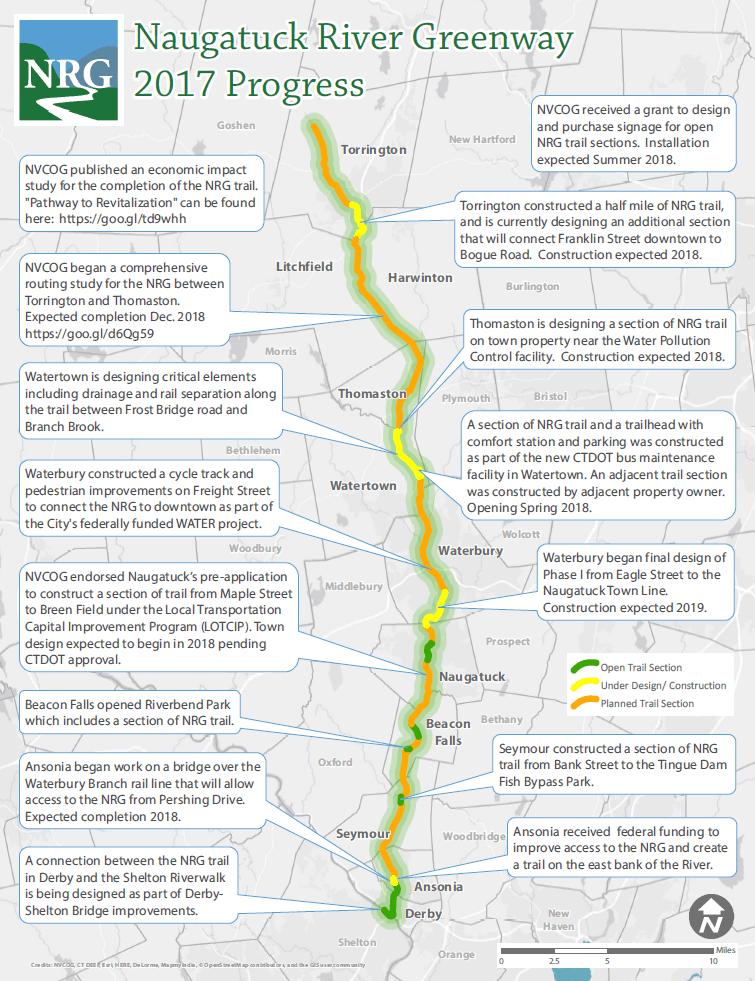 2017 Naugatuck River Greenway Progress