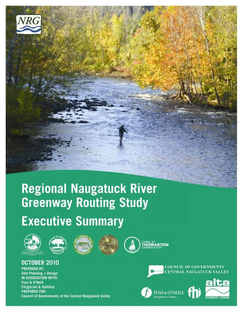 COGCNV Naugatuck River Greenwaouting Study Executive Summary Cover