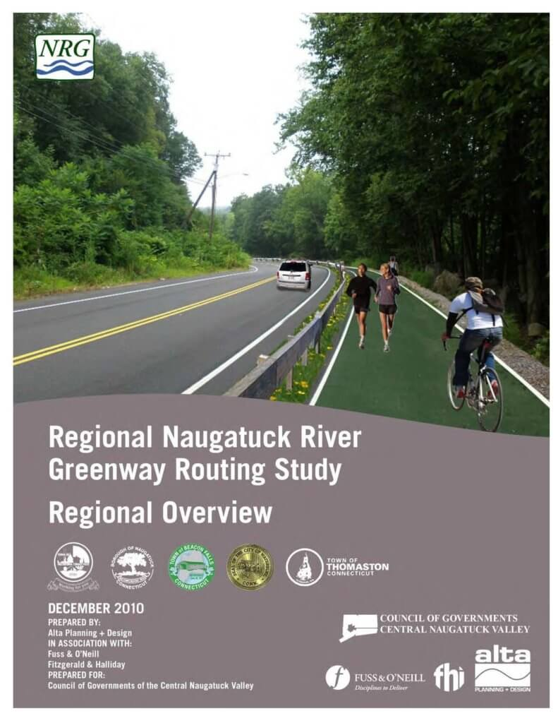 COGCNV Naugatuck River Greenway Routing Study Overview Cover