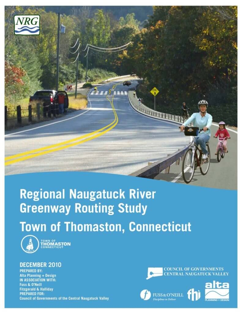 COGCNV Naugatuck River Greenway Routing Study Thomaston Cover