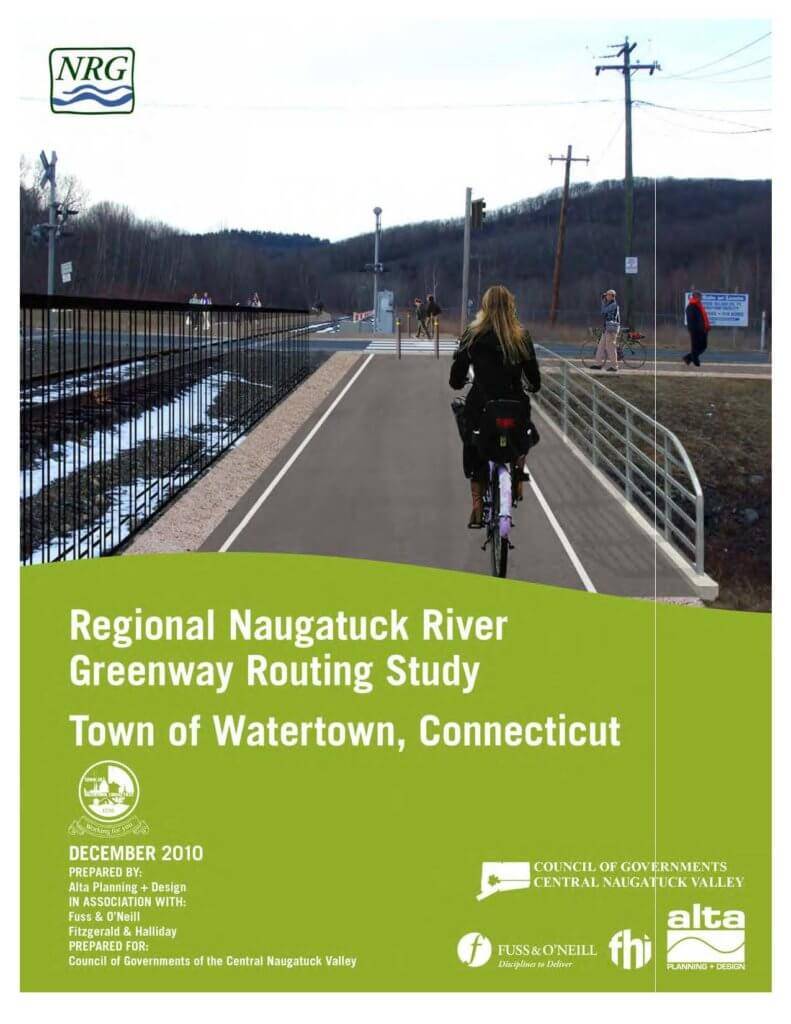 COGCNV Naugatuck River Greenway Routing Study Watertown Cover