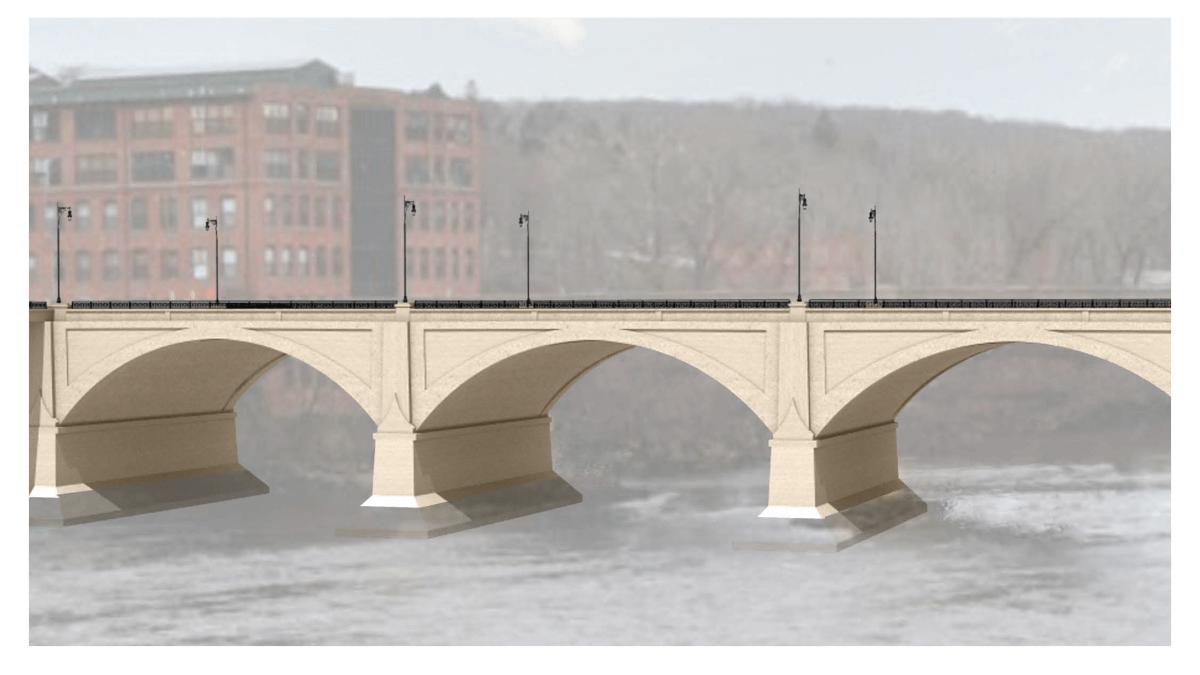 3D drawing of proposed bridge