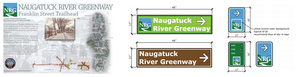 Naugatuck River Greenway sign template examples