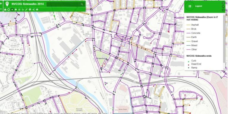 map of sidewalks