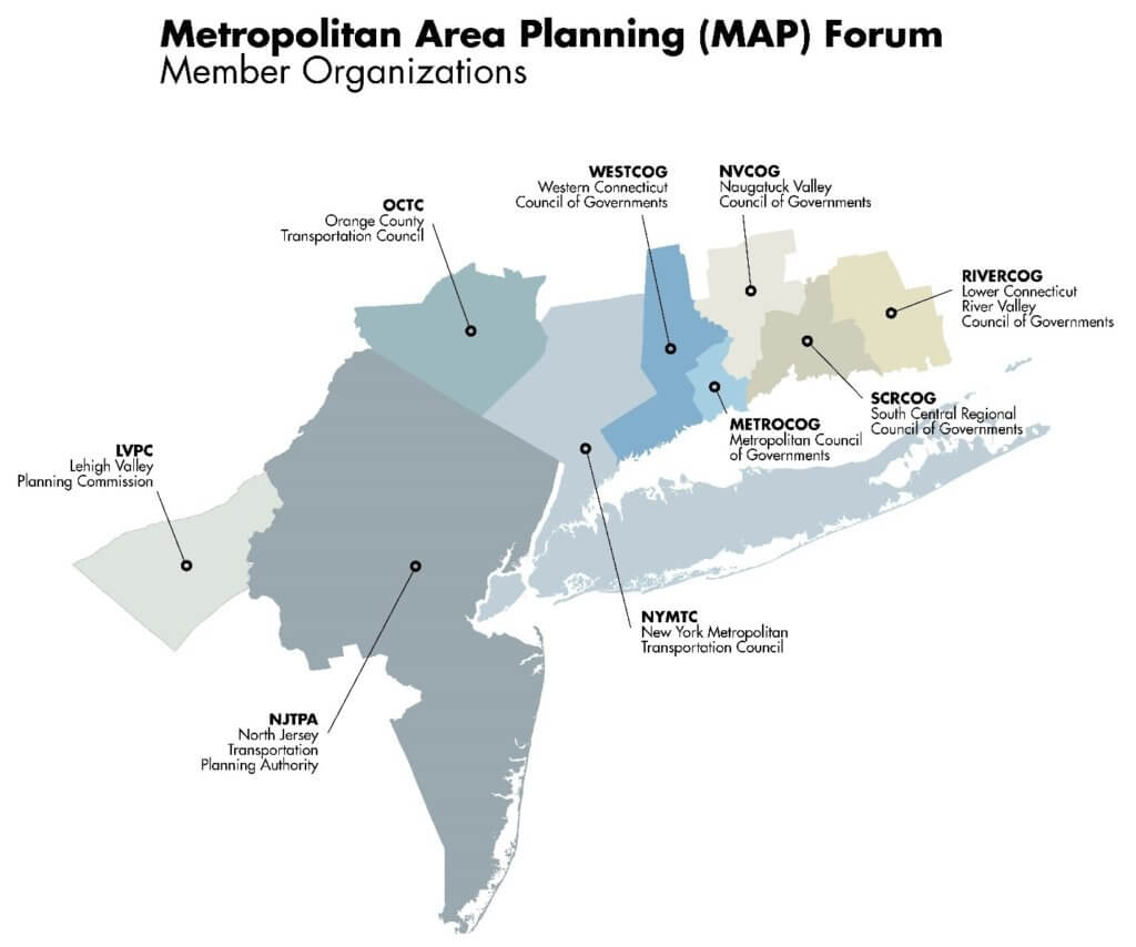 map of the area in the Metropolitan Area Planning