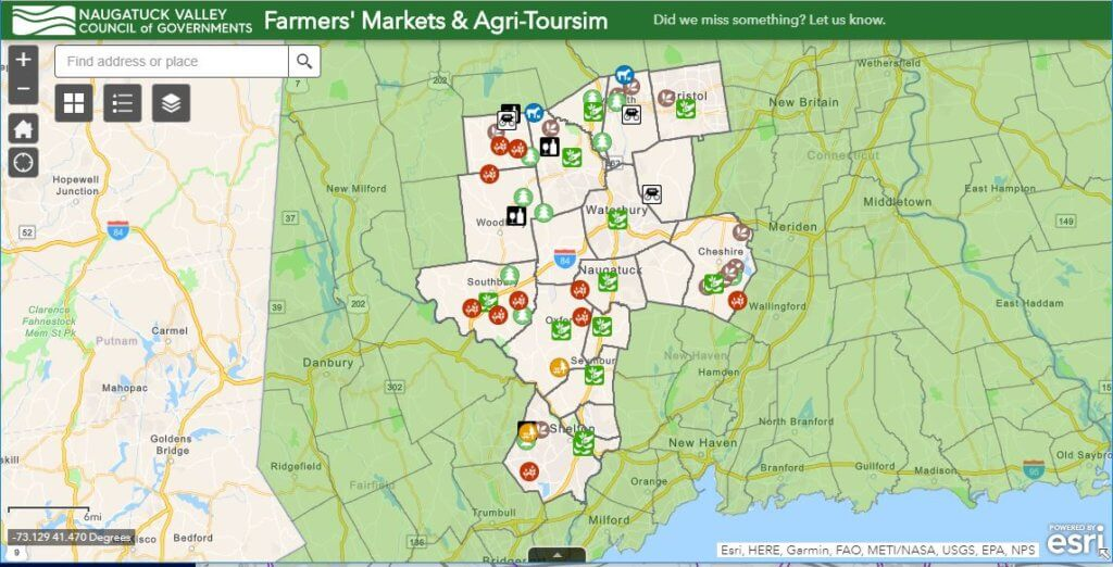 Screenshot of Agriculture Map