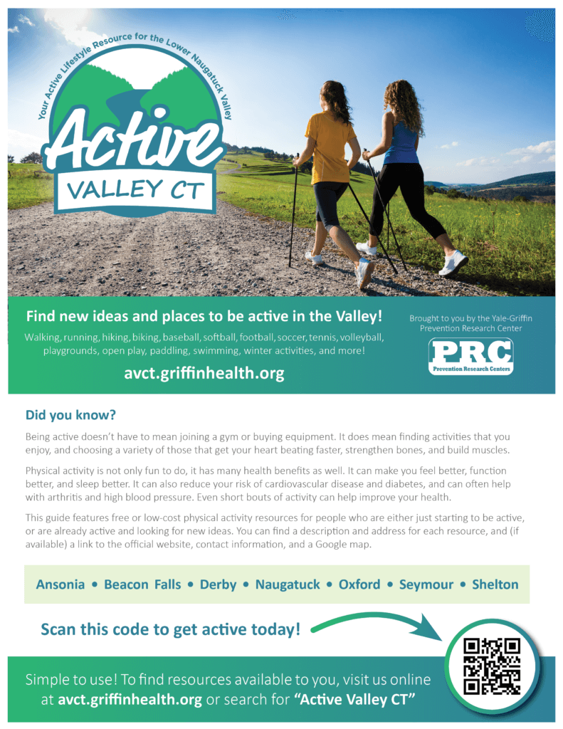 Flyer for Active Valley CT