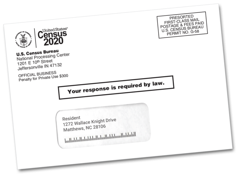 Example Census invitation envelope