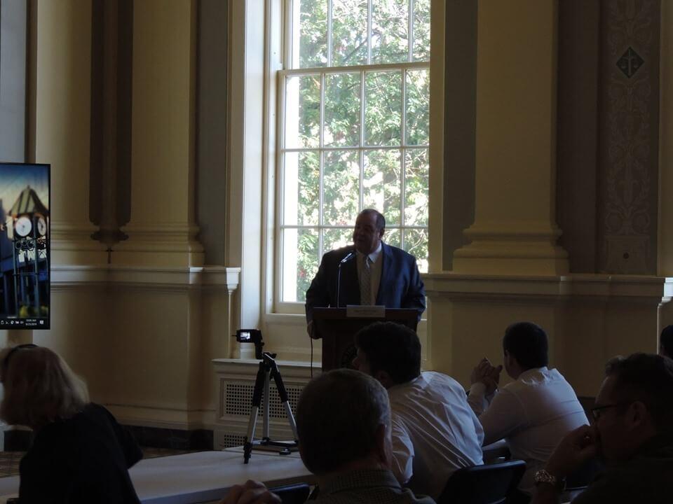 Mayor O'Leary speaking