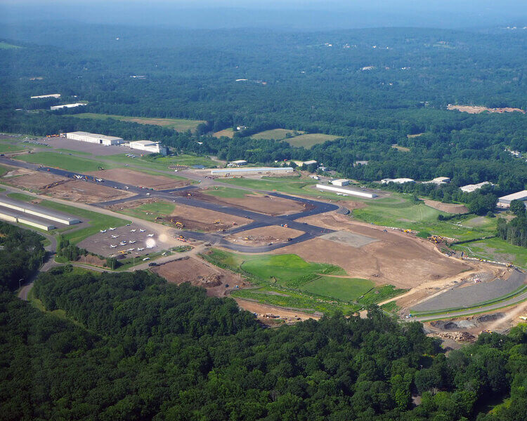 Aerial of Waterbury-Oxford Airport