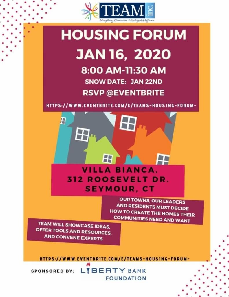 Invitation to TEAM's Housing Forum