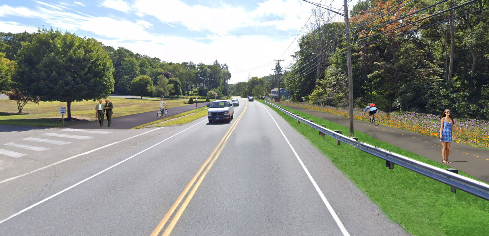 Possible Future Pedestrian and Bicycle infrastructure on route 67