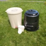 Rain Barrel and Composter available in the sale