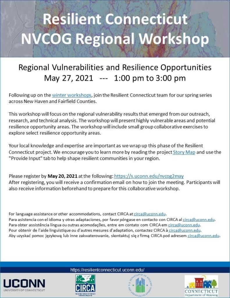 Resilient CT Second NVCOG Workshop