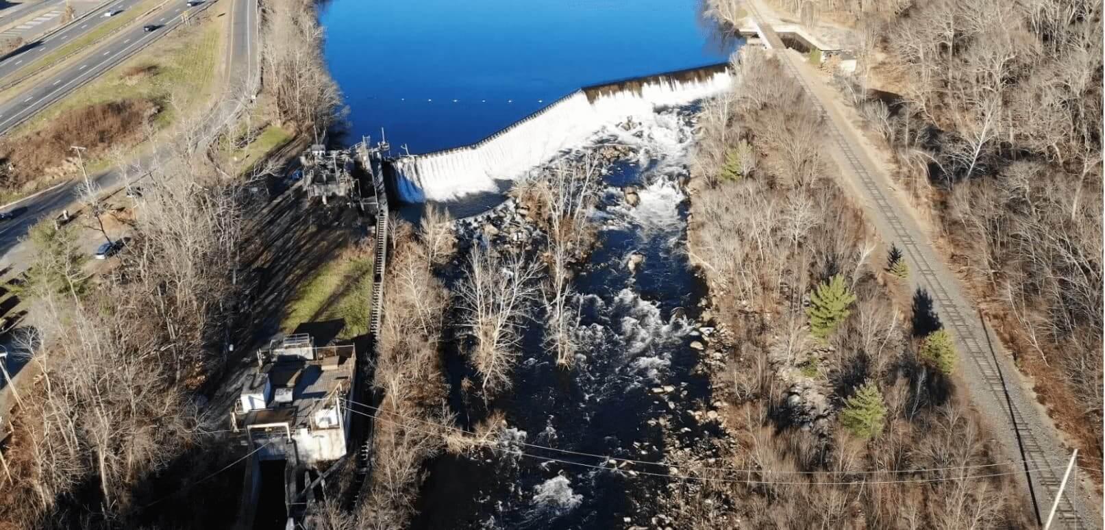Kinneytown Dam and Fish Ladder