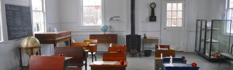 Old classroom in a museum